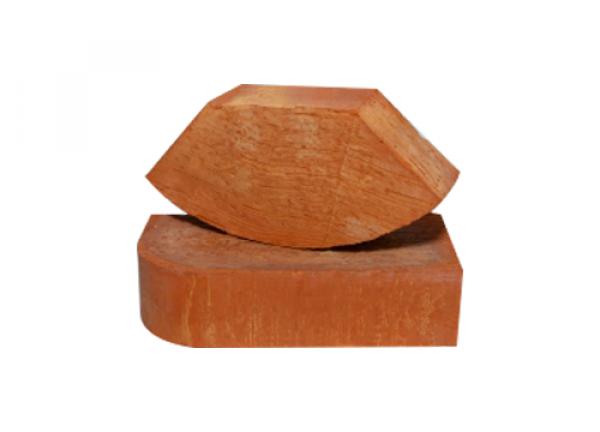 Кирпич рядовой полнотелый фасонный